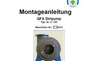 QFA Dirtpump 2 DN350, Montageanleitung